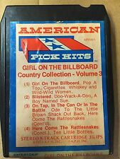 AMERICAN PICK HITS VINTAGE 8 TRACK TAPE GIRL ON THE BILLBOARD COUNTRY COLLECTION