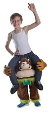 CHILD PIGGY BACK MONKEY COSTUME FOR ANIMALS & NATURE FANCY DRESS PARTY