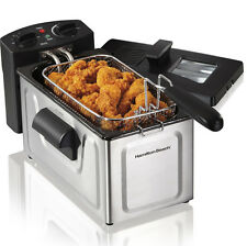 Hamilton Beach 8 Cup Fast Cooking Stainless Steel Deep Fryer with Lid | 35200