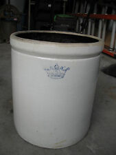 "Large Stoneware Crock w/ Crown Logo 12""Dx14""H"