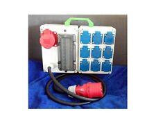 Stromverteiler Steckdosen 9x Schuko, 1x CEE 16A mit Fi- Schalter