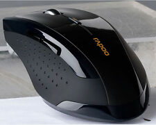 2.4GHz Wireless Rapoo 7300 Ergonomic Usb Optical Mouse Mice with Blue Light Tech