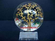FENG SHUI - LARGE TREE OF LIFE CRYSTAL GLOBE (WEALTH & GOOD FORTUNE)