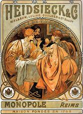 """Arte nouveauprint """"Heidsieck And Co » por Alphonse Mucha"""