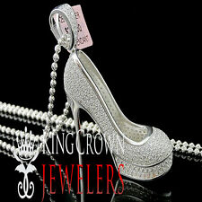 Womens Pendant High Heel Vuitton Shoes Sleek Lab Diamond Silver 925 Charm Chain