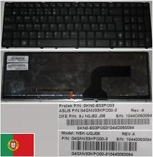 Clavier Qwerty PO Portugais  ASUS G60 G72 NSK-UGJ06 9J.N2J82.J06 Backlit