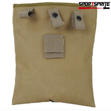 Tactical Airsoft Hunting Molle Magazine Pouch Dump Drop Utility Pouch Bag Tan