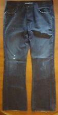 Rock & Republic Mens Jeans Button Fly Studded Back Pockets 36x32 Dark Wash EUC