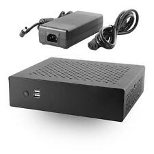 MX500 Industrial Fanless Mini-ITX Case w/120W DC-DC Power Board, 120W AC Adapter
