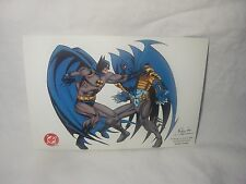 DC COMICS BATMAN POSTCARD PROMO PREVIEW S. HANNA & NOLAN 1994 PRINTED IN CANADA