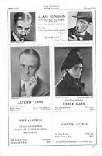 1939 Alan Gordon Alfred Gray Earle Grey Nicholas Grimshaw