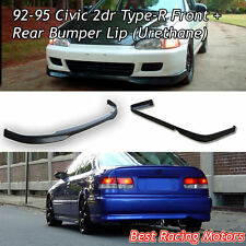 TR Style Front Lip + TR Style Rear Lip (Urethane) Fits 92-95 Honda Civic 2dr