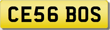 CE CES  THE BOSS!!   Private CHERISHED Registration Number.Plate
