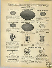 1906 PAPER AD Reach Football Head Harness Medell Nose Guard Mask Soccer Ball