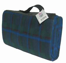 Autocare GREEN.Blue Tartan Folding Picnic Rug Camping Travel Mat Festival Beach