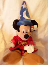 "Disney Store Sorcerer Mickey Mouse w/tag 19"" Plush Soft Toy Stuffed Animal"