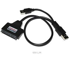 "USB 2.0 to SATA 7+15 Pin 22Pin Adapter Cable For 2.5"" HDD Hard Disk Drive DBX"