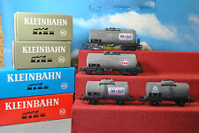 Kleinbahn H0 4 Stk. 2 / 4-achs Kesselwagen der ÖBB Nr. 313 , 355