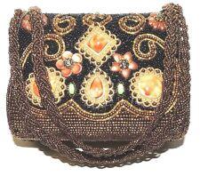BEADED STONES Unique handbag  purse clutch box vintage