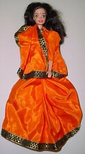 MATTEL BARBIE India IMPORT Indian Barbie in Orange Sari Malaysia