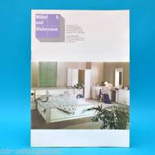 DDR Möbel und Wohnraum 5/1989 Schlafzimmer Yvonne Schülerarbeitsplatz Paris