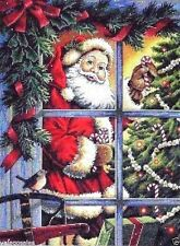 "Dimensions Gold Counted Cross Stitch kit 12"" x 16"" ~ CANDY CANE SANTA #08734"