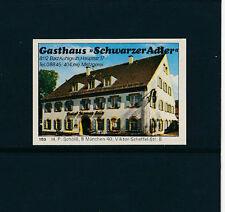 Streichholzetikkette Gasthof Schwarzer Adler in Bad Kohlgrub  30/1/16