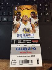 2016 GOLDEN STATE WARRIORS V CLEVELAND CAVALIERS NBA FINALS GAME #2 TICKET STUB