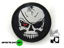 ill Gear MODERN DAY EVIL BLACKBEARD Round Pirate Flag Velcro Patch Glow in Dark