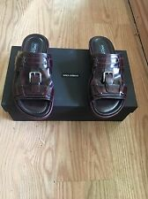 Dolce & Gabbana Mens Leather Sandals - Size 8