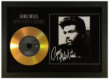 GEORGE MICHAEL 'LISTEN WITHOUT PREJUDICE' SIGNED GOLD DISC DISPLAY