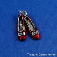 Silver and Red Dorothy's Magic RUBY SLIPPERS Wizard of Oz CHARM PENDANT *NEW*