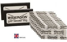 2 Pack X Genuino Wilkinson Sword Doble Filo Afeitado Cuchillas De Afeitar Barbero Corte 10