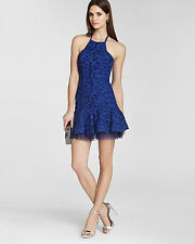 BCBG MAX AZRIA Basanti Embroidered Halter Cocktail Dress Size: 8 Petite