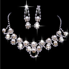 Hot-Prom-Wedding-Bridal-Party-Crystal-Rhinestone-Necklace-Earring-Jewelry-Sets