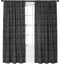 "NEW 2 THRESHOLD AZTEC BLACK DIAMONG PRINT CURTAINS 54""x84"" TARGET CLEARANCE NISP"