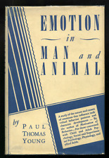 Paul Thomas YOUNG Emotion in Man and Animal 1943 FIRST EDITION /dj