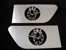 Set of 2pcs Griffin Spoiler Decoration SCANIA Made ​​Of Polished Stainless Steel