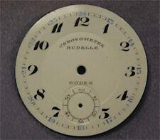 Cadran Fond de Montre à Gousset Email Emaillé Ancien Chronomètre Rodez 35