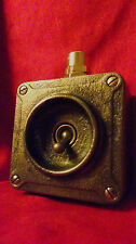 "Vintage Industrial Light Switch ""Crabtree"" 1 One Gang Cast Iron"