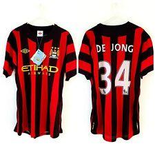 BNWT Manchester City Away Shirt 2011. Medium. De Jong. Umbro. Red Man Adults Top