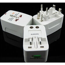 EU/AU/UK/US To Universal World Travel AC Power Plug Convertor Adapter Socket