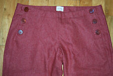 ULLA JOHNSON Wool Sailor Button Up Pants / Women's Size 29