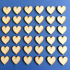 4cm / 40mm MDF HEARTS x 30 LASER CUT MDF WOODEN SHAPE Wood Craft Arts Decoration