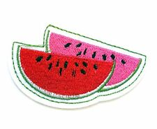 Water Melon Iron On Patch- Embroidered Fruit Applique Badge Crafts Sew Patches