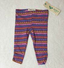 NWT 12 M ROXY Girl Colorful Stripe Ruched Leggings