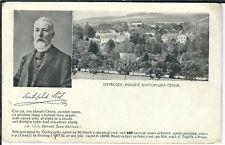 Carte postale ostredek-rodiste svatopluka cecha-portrait sv. CHECH-s/w