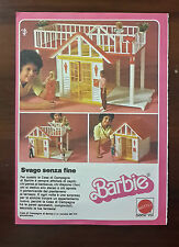 PUBBLICITA' ADVERTISING RITAGLIO 1984 CASA DI CAMPAGNA BARBIE