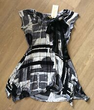 Size S Chilli Pepper Black, Grey & White Slouch Dress