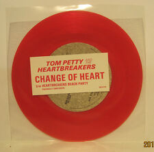 "Tom Petty ""Change of Heart"" 45rpm NM - RED VINYL Store Stock Backstreet Records"